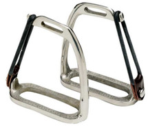Peacock Stirrup Irons Nickel Plated