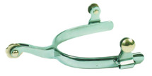 """Roping Spur With 1/2"""" Curved Band"""