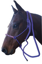 Woven Noseband Rope Halter With Lead