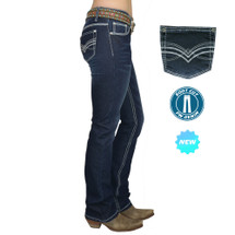 Pure Western By Thomas Cook Womens Hannah Boot Cut Jeans