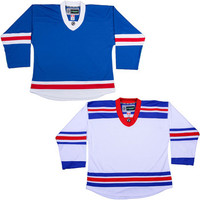 NHL Uncrested Replica Jersey DJ300 - New York Rangers-SR