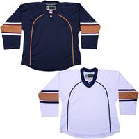 NHL Uncrested Replica Jersey DJ300 - Edmonton Oilers
