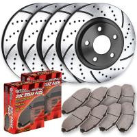 Chevy Sonic RS Turbo Cross Drilled and Slotted Brake Kit