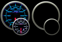 Prosport Oil temp Gauge Blue