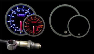 PROSPORT 52mm Premium Amber / White Air Fuel Ratio kit