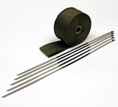 """Titanium Header Wrap-2"""" wide x 25 Ft. with ties"""