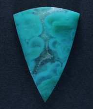 Bright Blue Gem Chrysocolla in Agate Cabochon   #15255