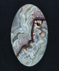 Crazy lace Agate Designer Cabochon - Red, Pink and White #15506