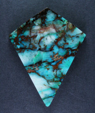 Bright Blue Chrysocolla w Cuprite Designer Cabochon #15533