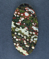 Guadalupe Poppy Jasper Cabochon Red, Green and White  #15651