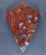 Dramatic designer cabochon of Wingate Plume Agate   #15734
