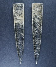 Exceptional Flawless Rutilated Quartz Matched Pair , $256 w discount #15780