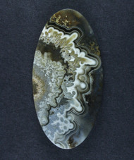 Crazy lace Agate Cabochon- Black, Grey White    #15823