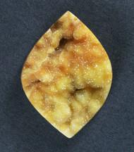 Gorgeous Bright Yellow Druzy Agate Gemstone  #17071
