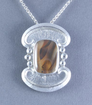 Montana Agate and Sterling Silver Pin/Pendant