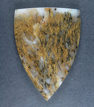 Gorgeous Designer Cabochon of Nipomo Sagenite Agate  #17270