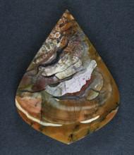 Amazing Chapenite Brecciated Jasper Cabochon   #17276