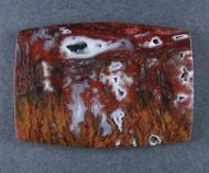 Rare!! Dramatic Red and Black Bullion Moss/Plume Cabochon  #17285