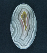 Top Shelf Laguna Agate Cabochon- White, Red and Yellow  #17330