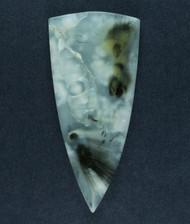 Gorgeous Cabochon of Saddle Rim Sagenite Agate  #17332
