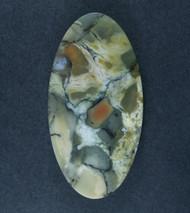 Gorgeous Chapenite Brecciated Jasper Cabochon   #17371