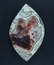 Crazy lace Agate Designer Cabochon - Red, Pink and White  #17409