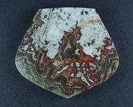 Black Crazy lace Agate Cabochon- Black, Red and Green  #17465