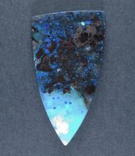 Deep Blue Chrysocolla w Azurite Cabochon  #17509