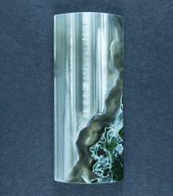Dramatic Ochoco Moss Agate Designer Cabochon  #17512