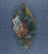 Dramatic Morrisonite Jasper Cabochon- Red, Blue + Yellow   #17538