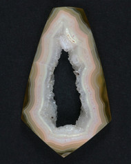 Elegant Yellow and Pink Coyomito Agate Cabochon w Druzy #17542