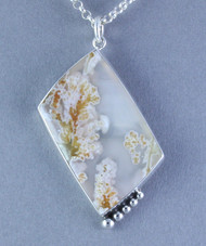 Horse Canyon Plume Agate Sterling Silver Pendant