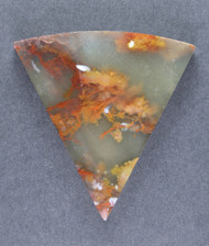 Gorgeous Lucky Strike Moss Plume Agate Cabochon 14264