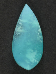 Bright Blue Gem Chrysocolla in Agate Cabochon 13628