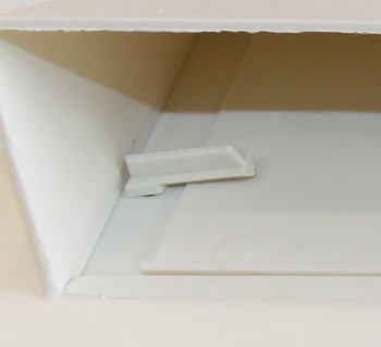 Ventline V2111-11 Exterior Wall Vent for RV Range Hood - Colonial White
