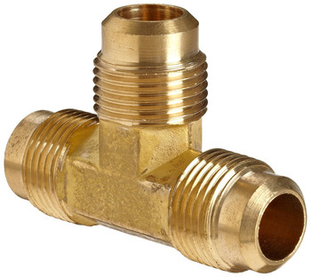 "AMC 704044-06 Brass Tee Flared Fitting - 3/8"" All Ends"
