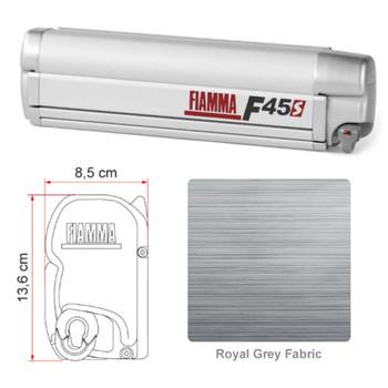 """Fiamma 06290B01R F45S Awning 3.5m (11'6"""") - Titanium Finish Case - Royal Grey Fabric"""