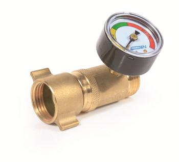 Camco 40064 RV Fresh Water Pressure Regulator with Gauge