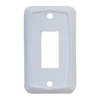 Diamond P7101 Face Plate for use with Switches - Single White