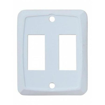 Diamond P7201 Face Plate for use with Switches - Double White