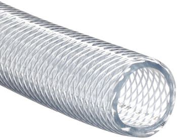 Clear Braided Vinyl Tubing 3/8""