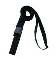 1.5 Inches Wide Black Traction Belt with Fast Release Buckle (8 Ft - 12 Ft Long)
