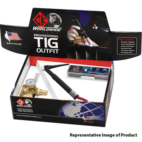 CK Professional TIG Outfit CK17 TIG Torch, Valve, 150A, 25', 1-Pc, PTO17V-25-R RG