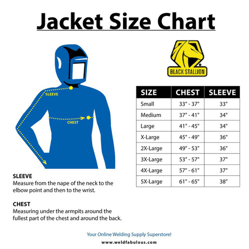 """Black Stallion JH1012-LM Cotton/Cowhide Welding Jacket with Pass-Through, 30"""" 9 oz, Lime, Large"""