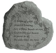 Heart-Shaped Memorial Stone : A heart of gold...