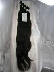 "22""24""26""28"" 4 Bundles Unprocessed 100% Virgin Brazilian Natural Wave Human Hair Weave Extensions"