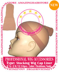 6pcs Nude Stocking Wig Caps for Lace Front Hair Wigs