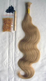 "24"" 100% Brazilian Remy Human Hair Extensions Euro Wave- 24#"