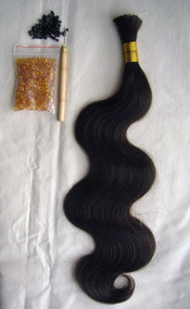 """24"""" 100% Brazilian Remy Human Hair Extensions Euro Wave- 2#"""