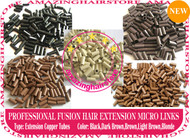 PreBonded Hair Extensions Micro Ring Copper Tube-wholesale 6000pcs
